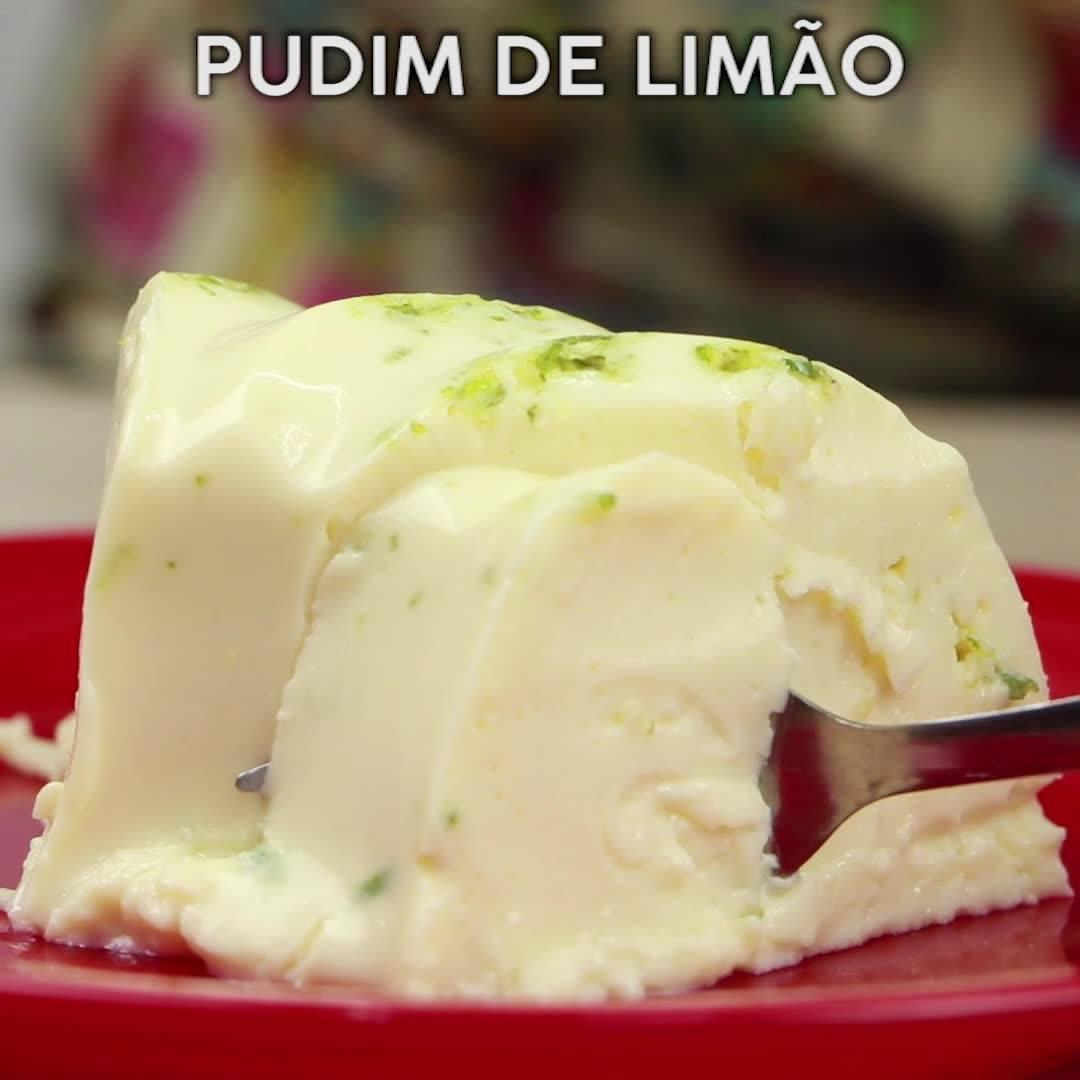 Receita De Pudim De Limão, Uma Delicia De Sobremesa, Confira!!!