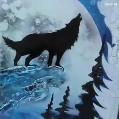 Lobo Que Brilha No Escuro