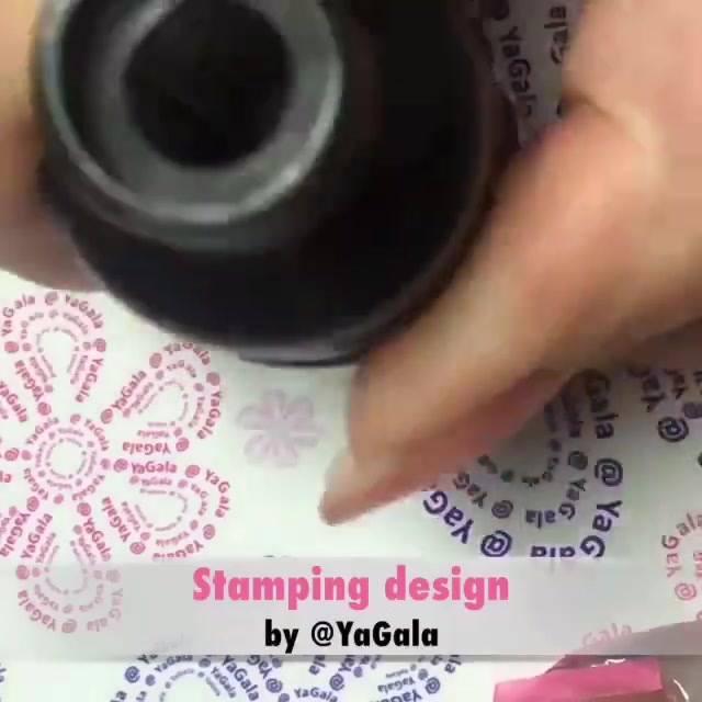 Inspiração De Unhas Decoradas Com Desenhos De Carimbo, Olha Só Que Lindo!!!