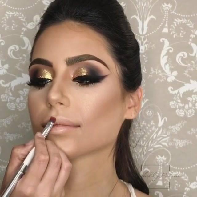 Maquiagem Para Formatura Com Esfumado Marrom Escuro, E Sombra Dourada!!!