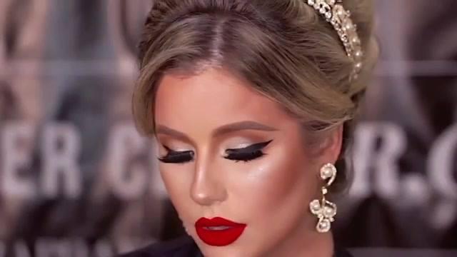Maquiagem Com Batom Vermelho Para Noiva, Veja Que Resultado Maravilhoso!!!
