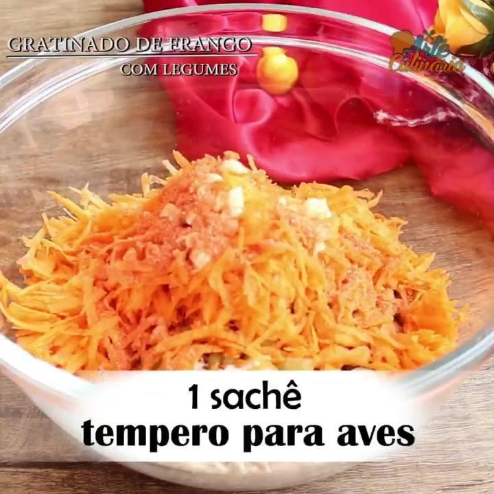 Receita De Gratinado De Frango Com Legumes, Varie No Cardápio!