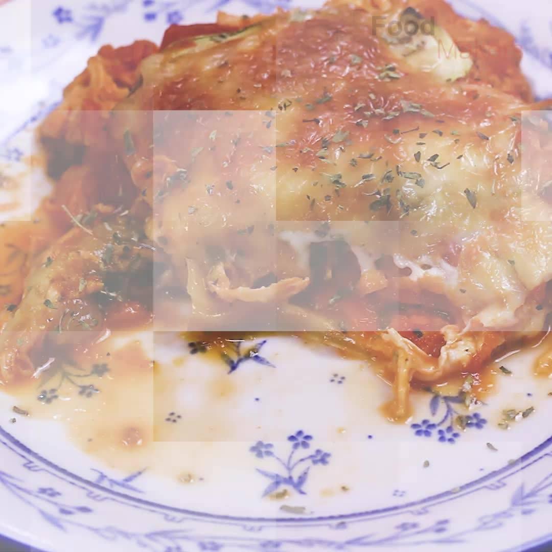 Lasanha De Legumes Com Frango E Queijo, Uma Delicia Para O Almoço!