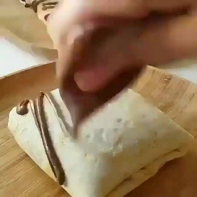 Panqueca Doce Recheada Com Creme De Avelã, Olha Só Que Delícia!!!