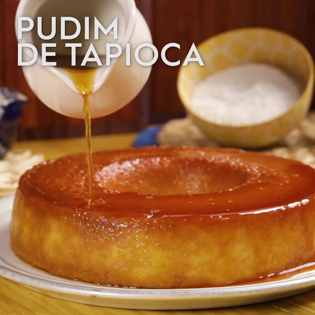 Receita De Pudim De Tapioca Maravilhoso, Olha Só Que Sobremesa!!!