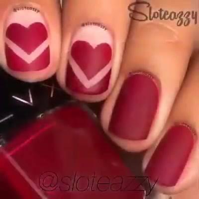 Tutorial De Unhas Com Coração Lindíssima, Vale A Pena Conferir!!!