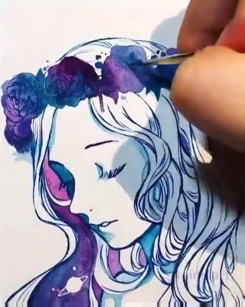 Vídeo Mostrando Desenho Sendo Pintado De Forma Magica, Confira!!!