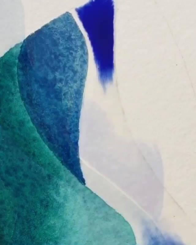 Vídeo Com Pintura Em Quadro Com Técnica Que Usa Água, O Resultado É Lindo!!!