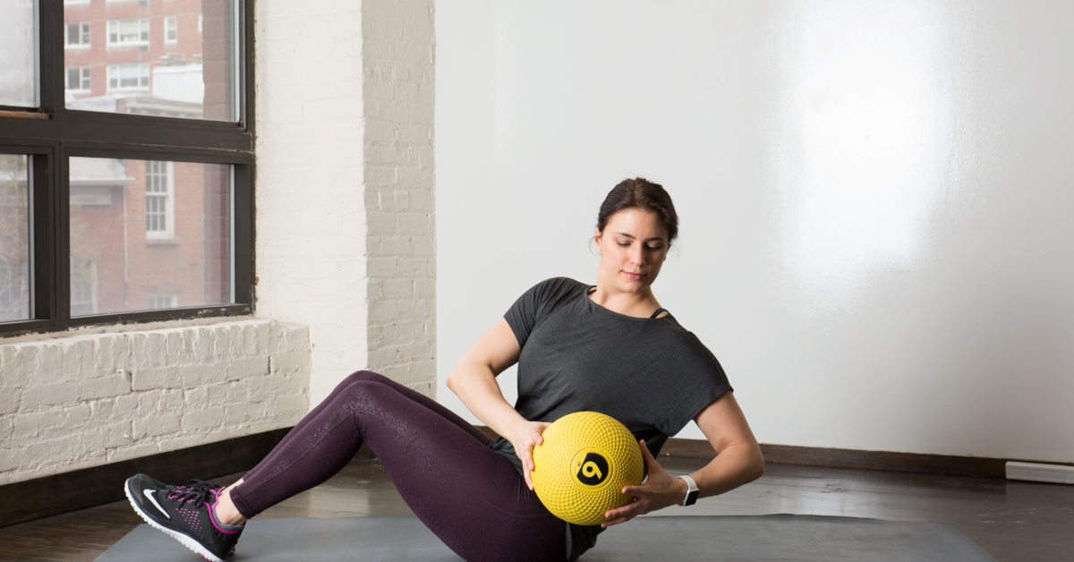 Medicine Ball Ab Workout Russian Twist Plank Crunch