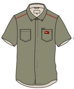 postman shirt khaki half sleeves