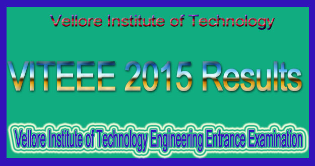 VITEEE 2015 Results