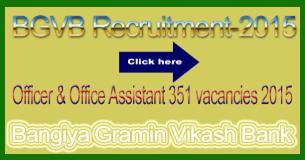 BGVP recruitment 2015