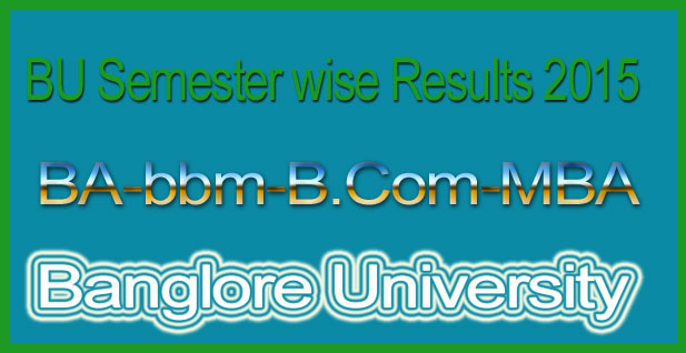 Banglore university results 2015