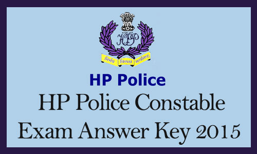 HP Police constable answer key 2015
