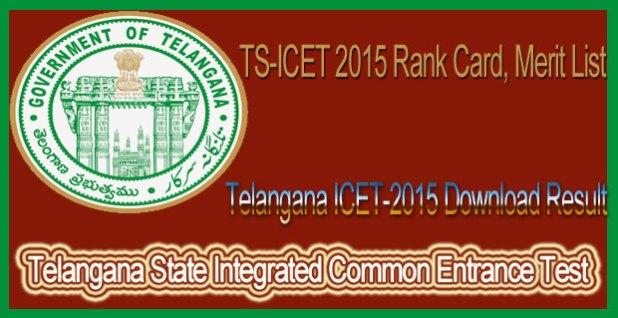 Telangana ICET-2015 Download Result