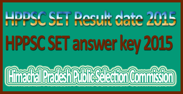 HPPSC SET answer key 2015