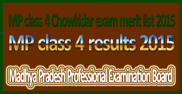 MP class 4 results 2015