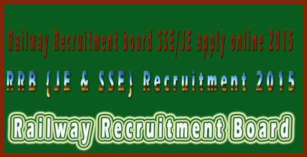 RRB je recruitment 2015