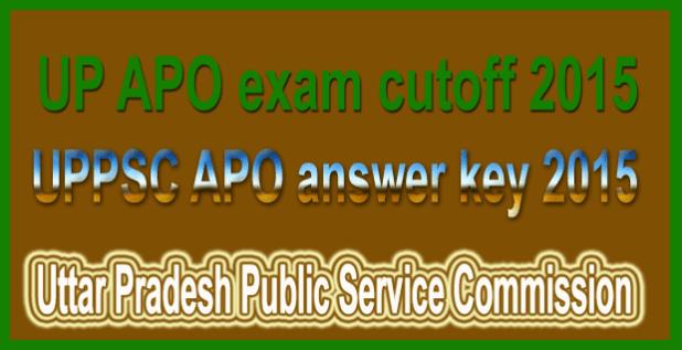 UPPSC APO answer key 2015