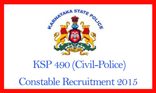 KSP constable recruitment 2015
