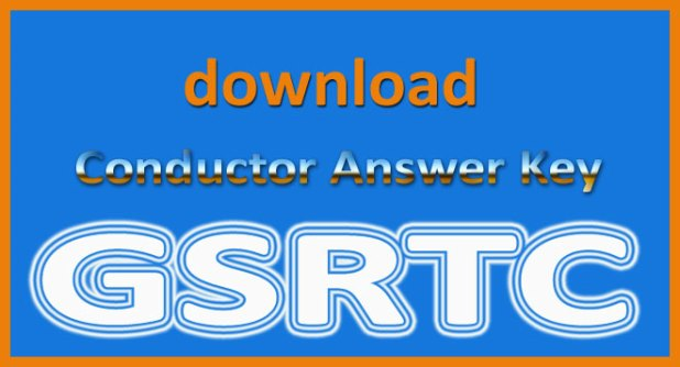 GSRTC conductor answer key 2015