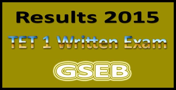 Gujarat TET 1 result 2015