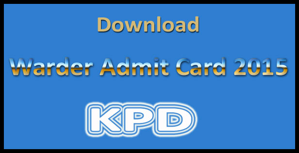 KPD warder admit card 2015
