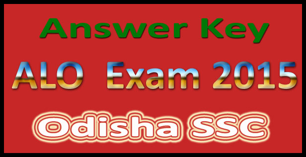 OSSC ALO answer key 2015