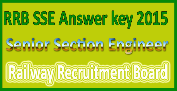 RRB SSE answer key 2015