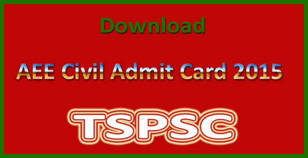 TSPSC AEE hall ticket 2015