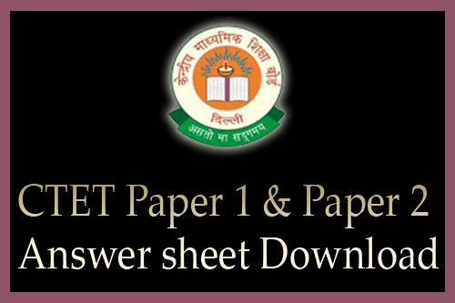 CTET answer sheet 2016