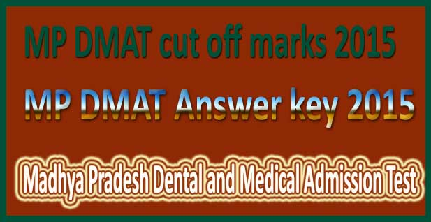 MP DMAT Answer key 2015