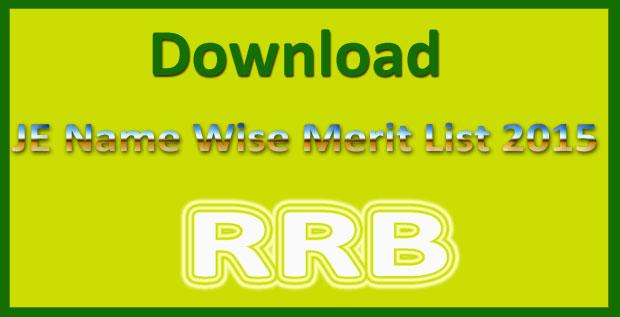 RRB JE result 2015