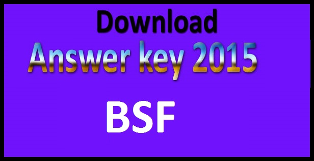 BSF tradesman answer key 2015