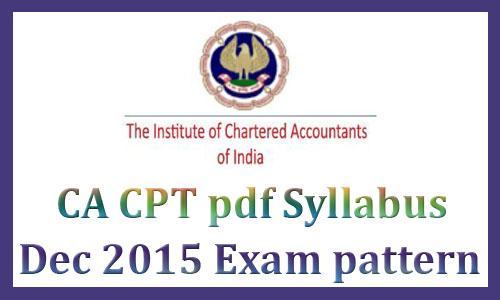 CPT syllabus 2015 December