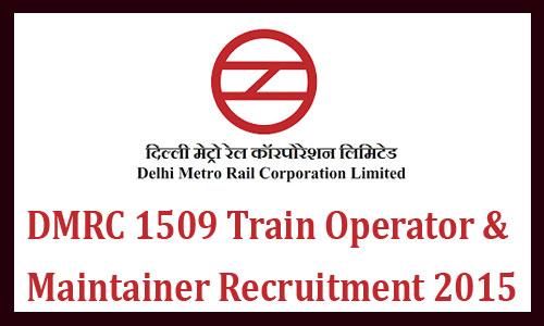 Delhi metro maintainer recruitment 2015