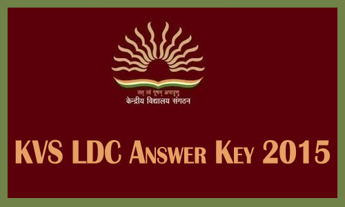 KVS LDC answer key 2015
