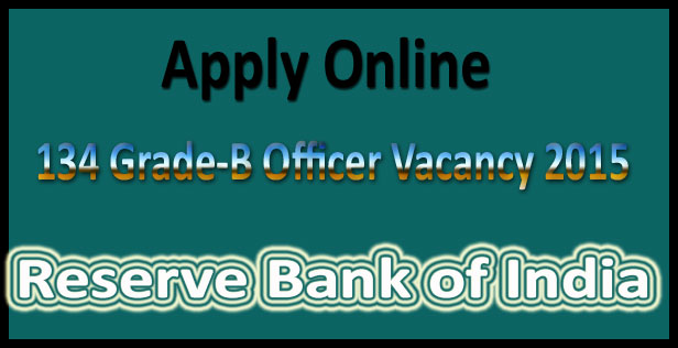 RBI grade b recruitment 2015