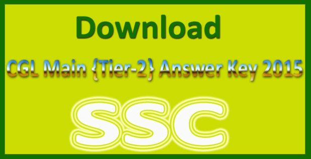 SSC CGL tier 2 answer key 2015