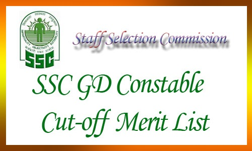 SSC GD Constable Cut Off 2017