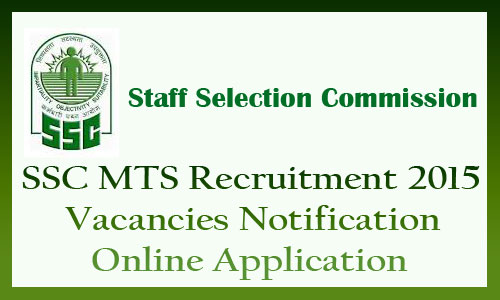 SSC MTS recruitment 2015-16