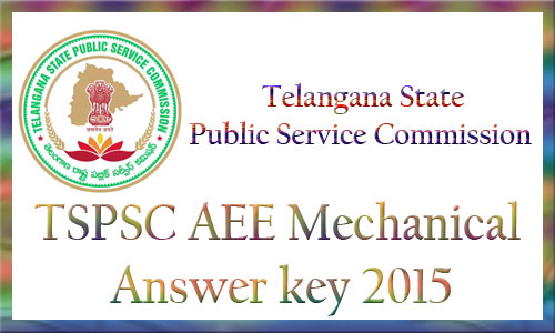TSPSC AEE mechanical answer key 2015