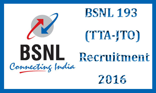 BSNL TTA recruitment 2015