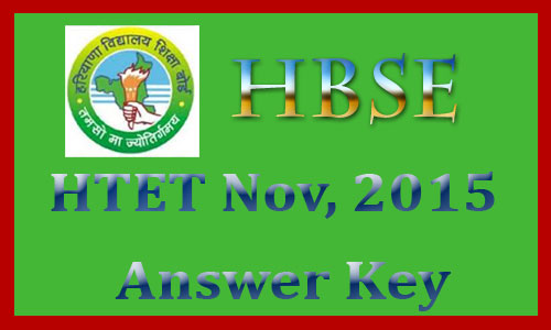HTET answer key 2015