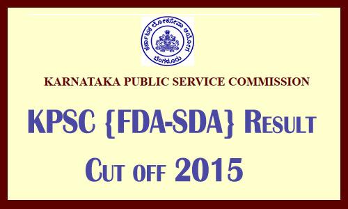 KPSC FDA result 2017