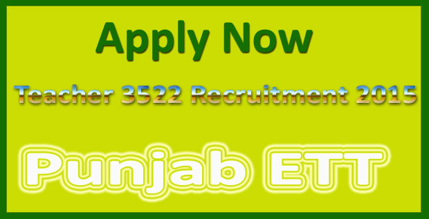 Punjab ETT teacher recruitment 2015