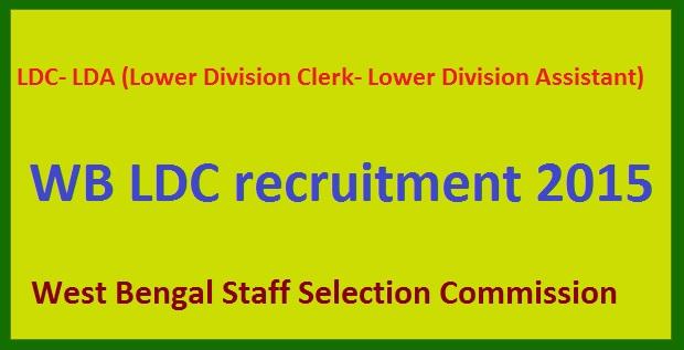 WB LDC recruitment 2015