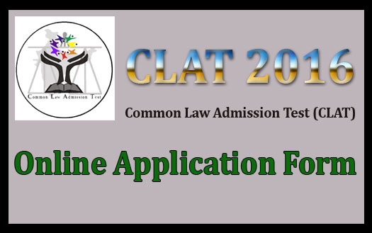 CLAT 2016 application form