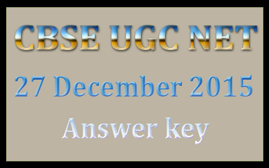 NET answer key December 2015