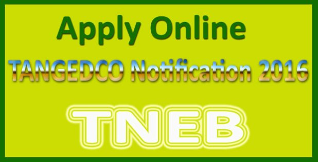 TANGEDCO recruitment 2016